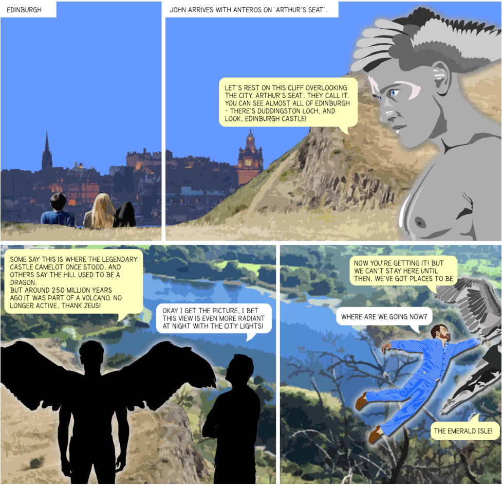 Arthur's Seat Edinburgh Graphic Novel