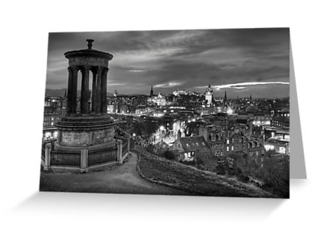 Edinburghs View postcard